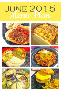 June 2015 Menu Plan