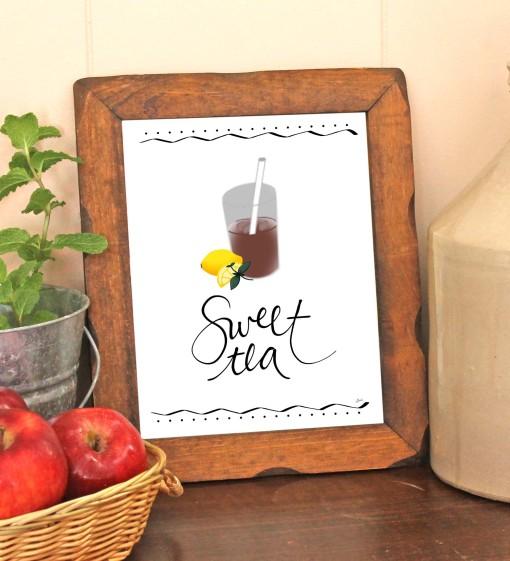 Free Sweet Tea Print