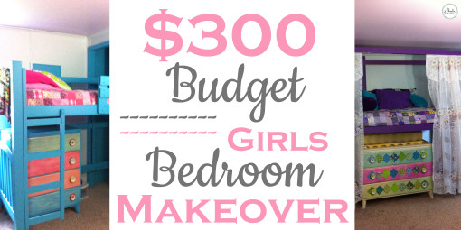 $300 budget girls bedroom makeover - head image