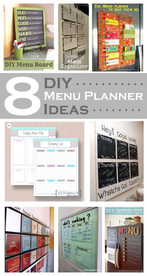 8 DIY Menu Planner Ideas
