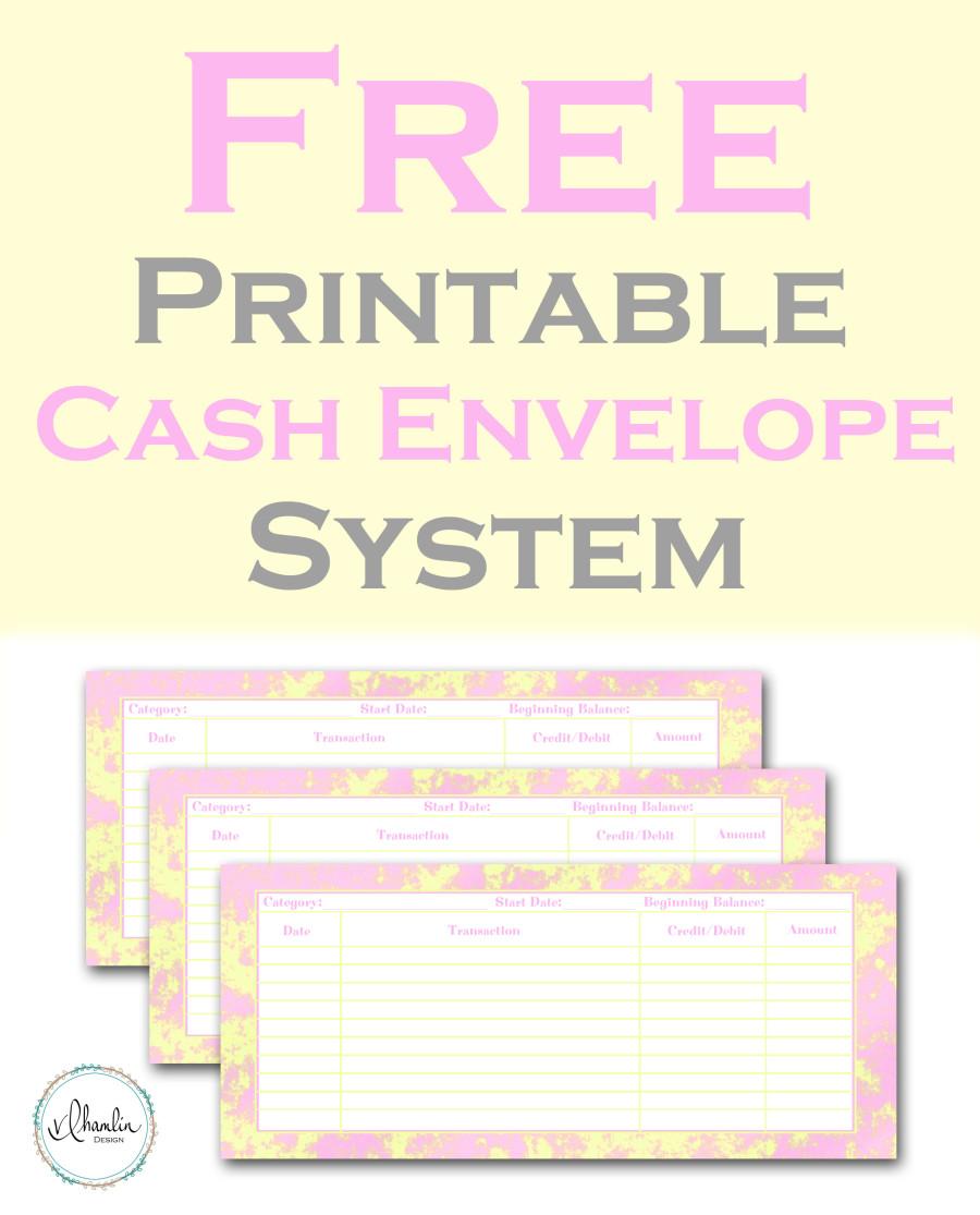 Free Printable Cash Envelopes For Easy Budgeting Inspired Budget