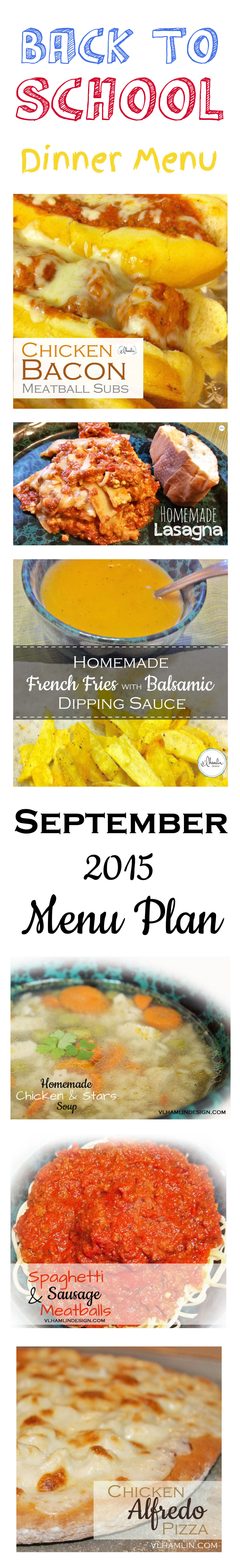 September 2015 Menu Plan
