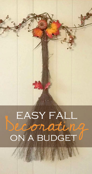 Easy Fall Decorating on a Budget
