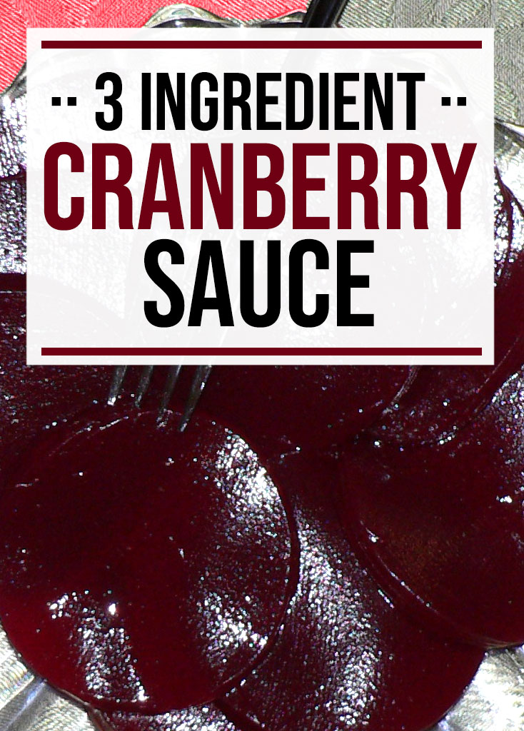 3 ingredient cranberry sauce - food life design