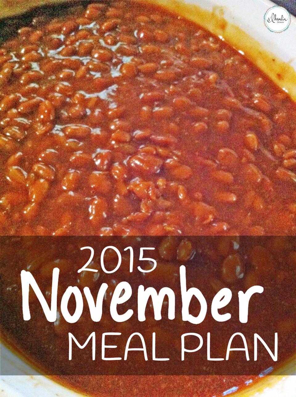 November 2015 Meal Plan