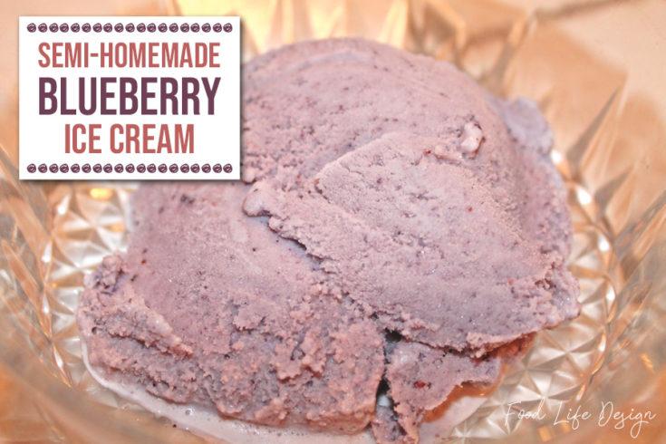Semi-Homemade Blueberry Ice Cream 2