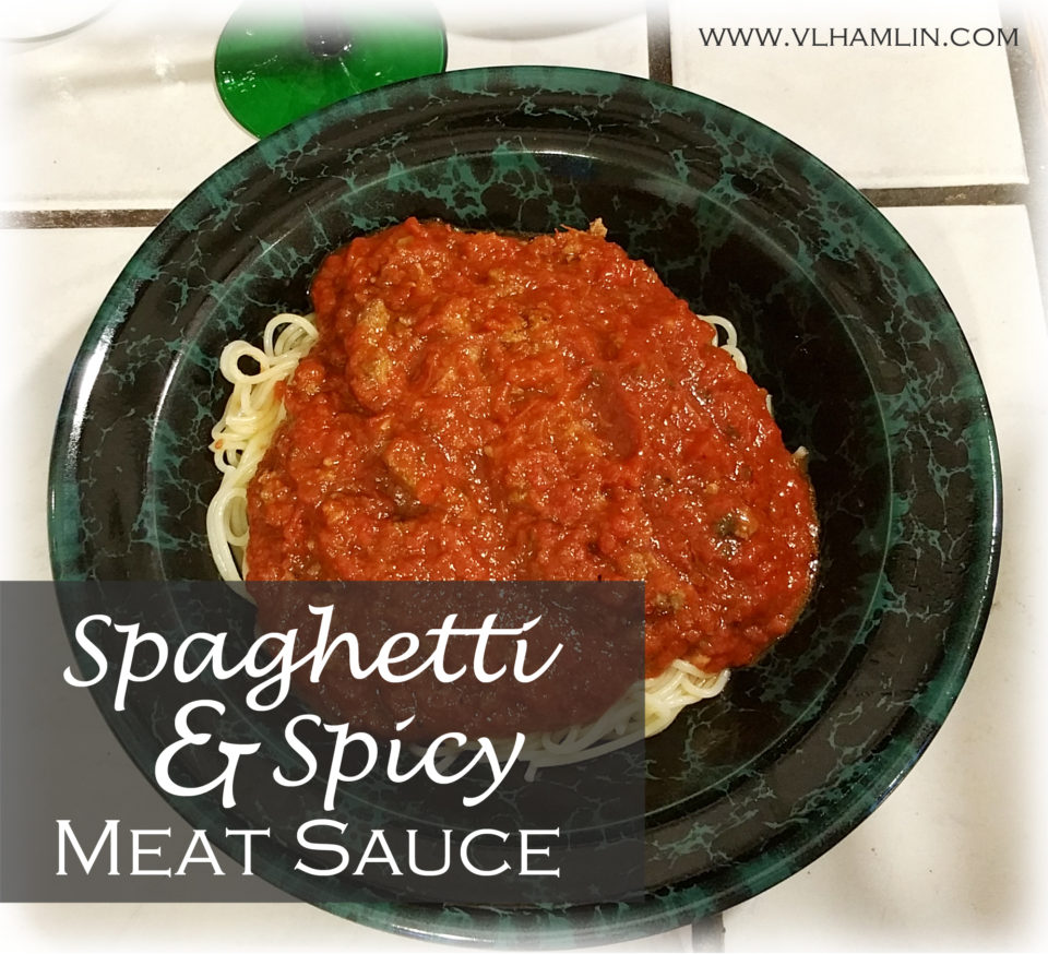 Spaghetti and Spicy Meat Sauce