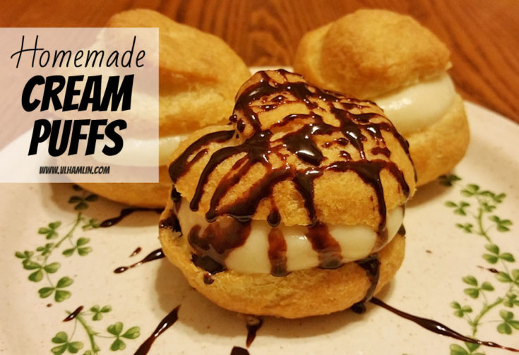 Homemade Cream Puffs with Vanilla Custard Filling