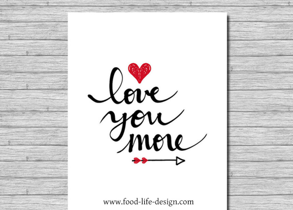 Free Printable Valentines Day Wall Art - Food Life Design