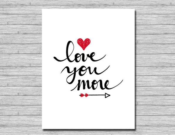 Free Printable Wall Art - Love You More Print
