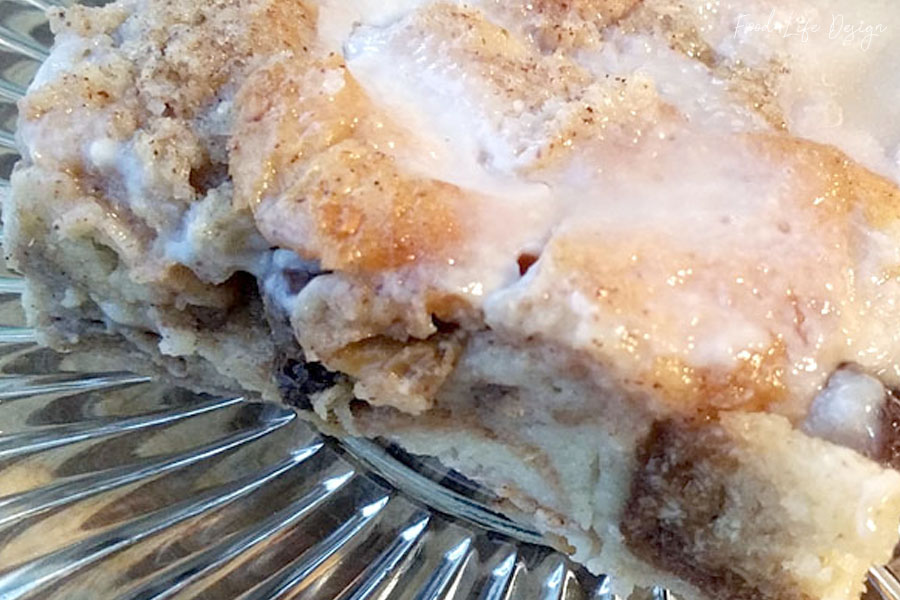 Cinnamon Raisin Bread Pudding - Food Life Design