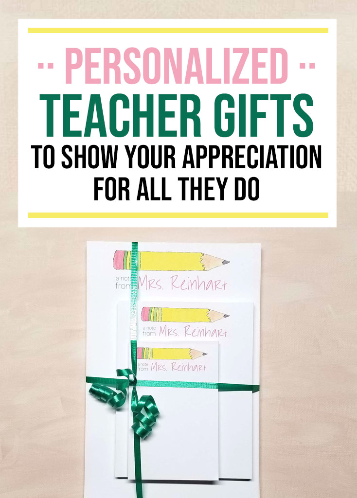 7 Personalized Teacher Gifts - Food Life Design