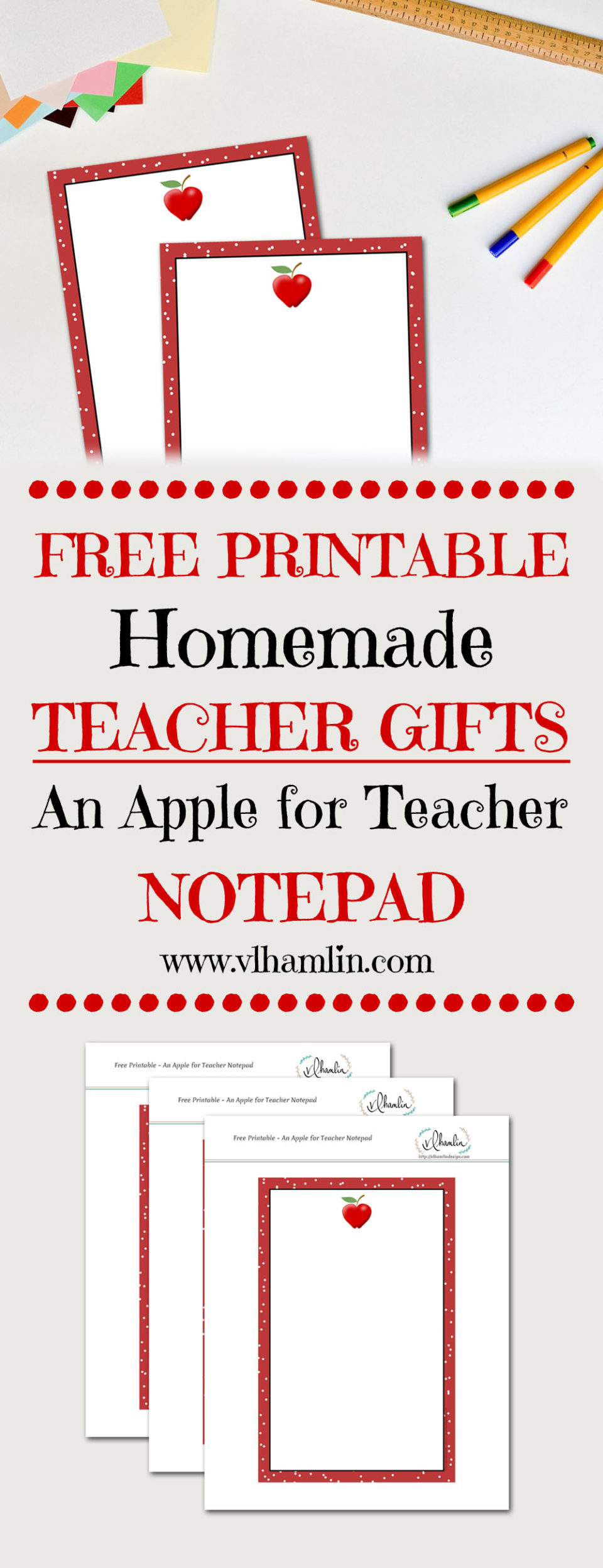 An Apple for Teacher Notepad - LEAD