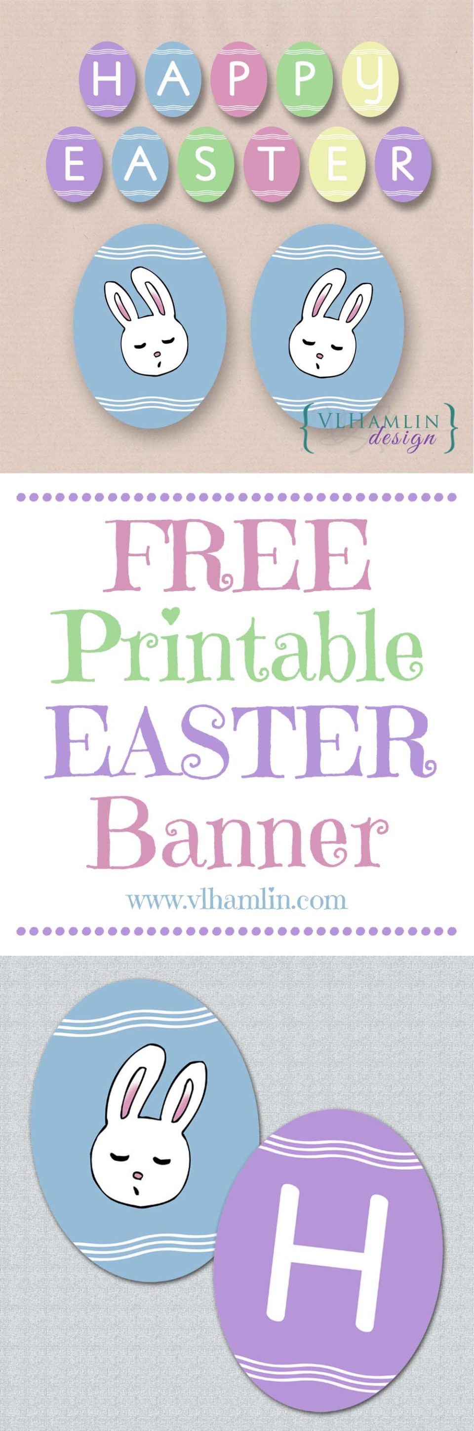 Free Printable Easter Egg Banner