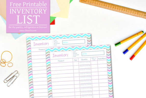 Free Printable Inventory List | Food Life Design