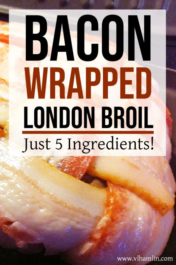 Bacon Wrapped London Broil Steak | Food Life Design