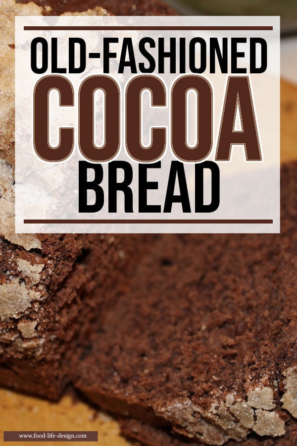 Surprise the kids with old fashioned cocoa bread for an after school treat or breakfast on the weekend. It's easy to make and your whole family will love it!