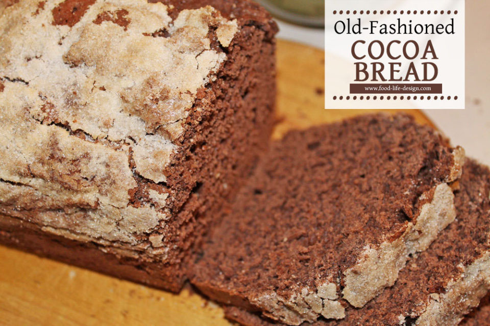Old Fashioned Cocoa Bread Sliced - Food Life Design