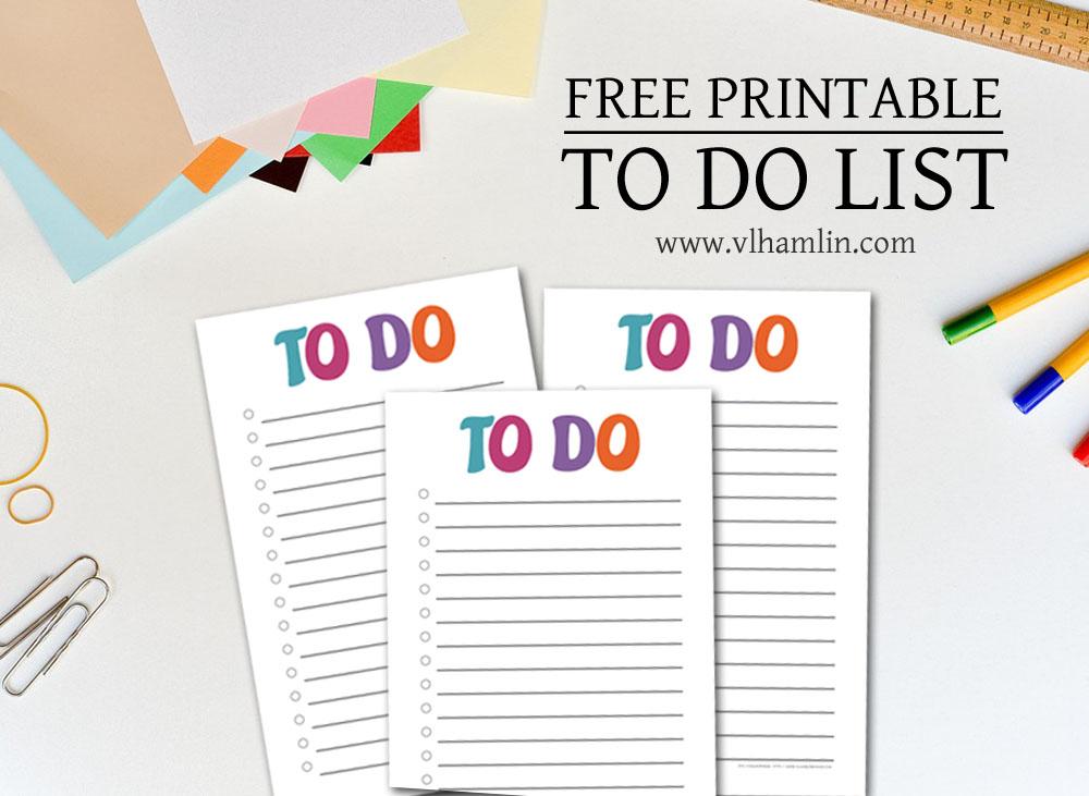 Free Printable To Do List 1