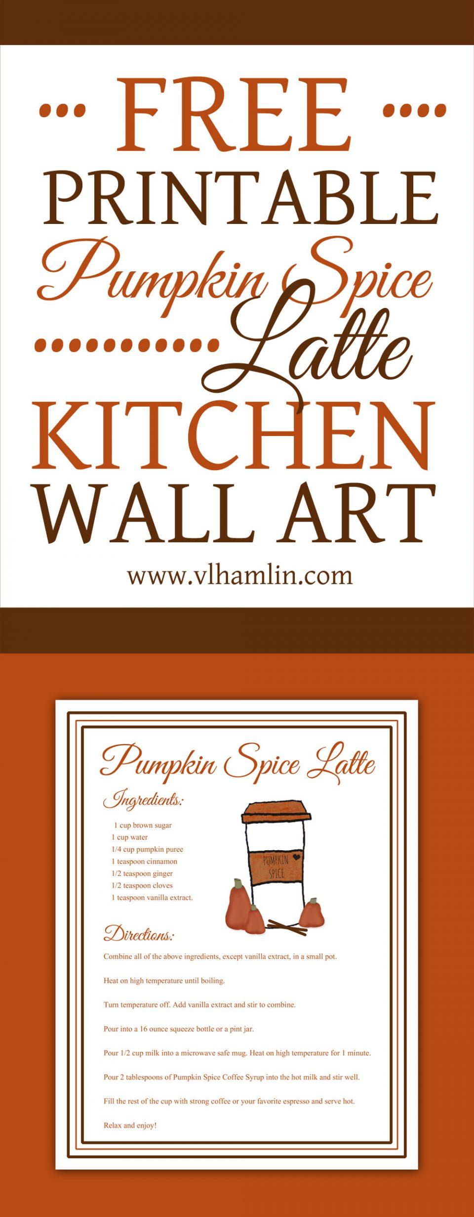 Pumpkin Spice Latte Recipe Print - PIN