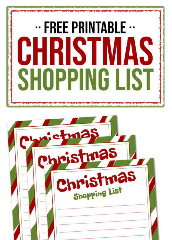 Free Printable Christmas Shopping List - Food Life Design
