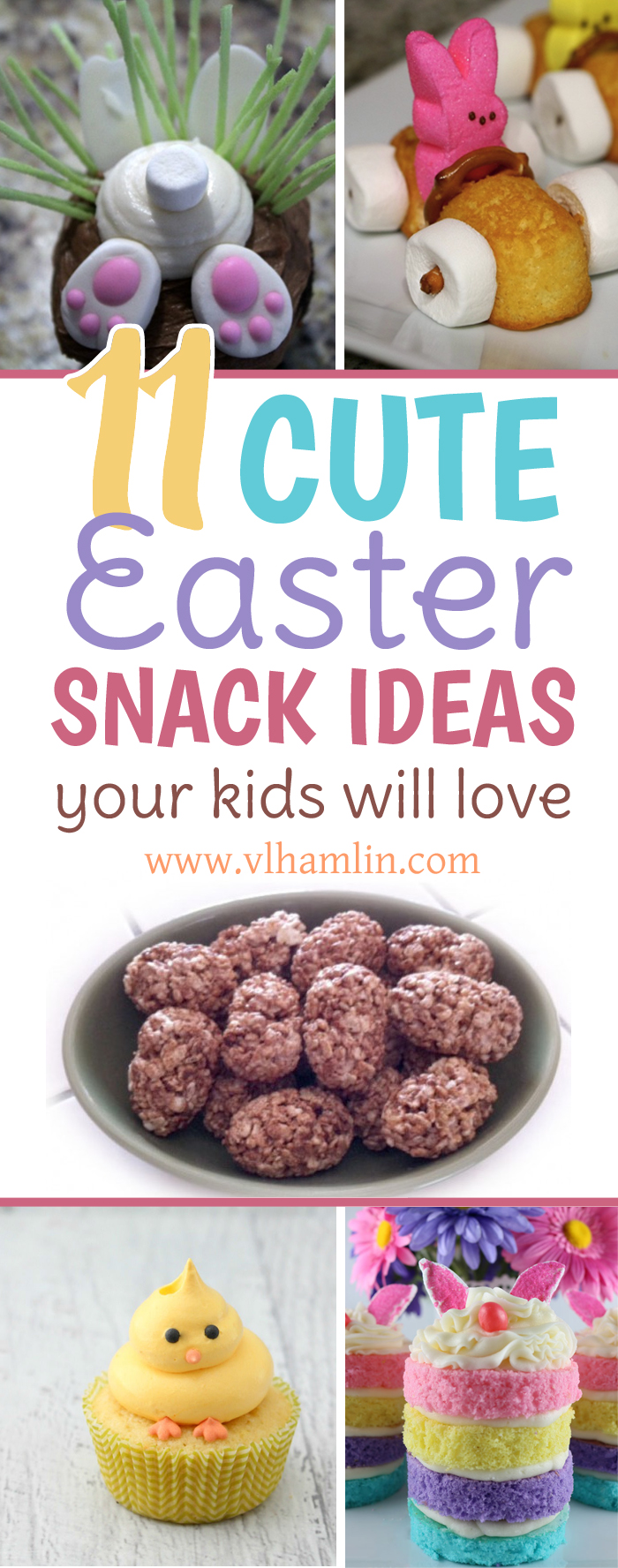 11 Cute Easter Snack Ideas Your Kids Will Love | Looking for some cute Easter snack ideas that your kids will love? Look no further - here's 11 adorable treats that are perfect for sneaking into their Easter baskets! | Food Life Design