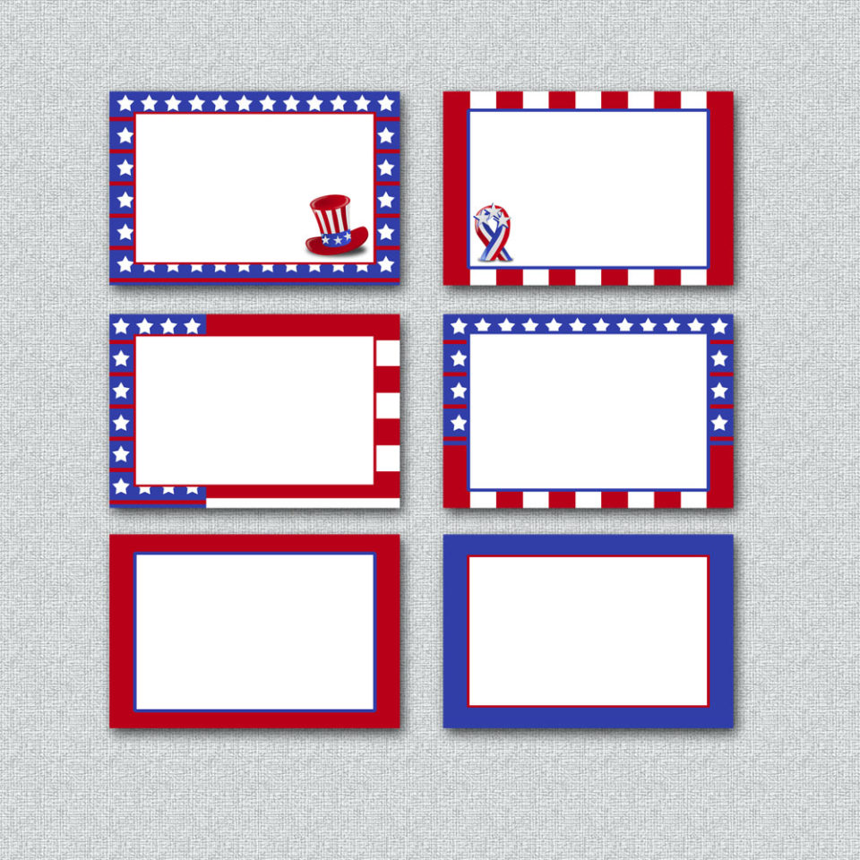 Free Printable 4th of July Labels
