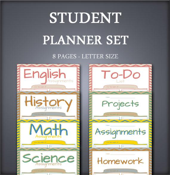 BOLD Chevron Student Planner Set