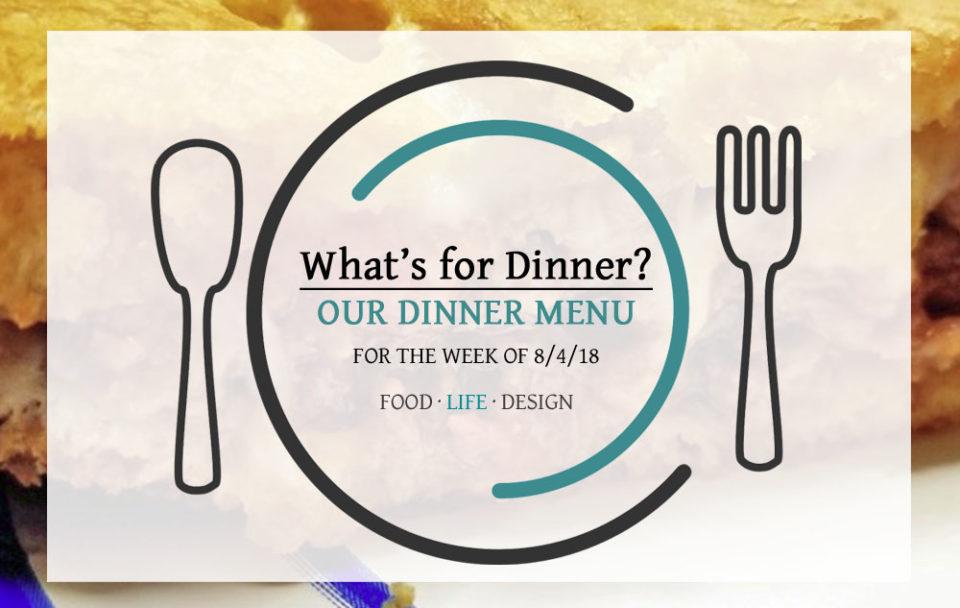 DINNER MENU 8-4-18