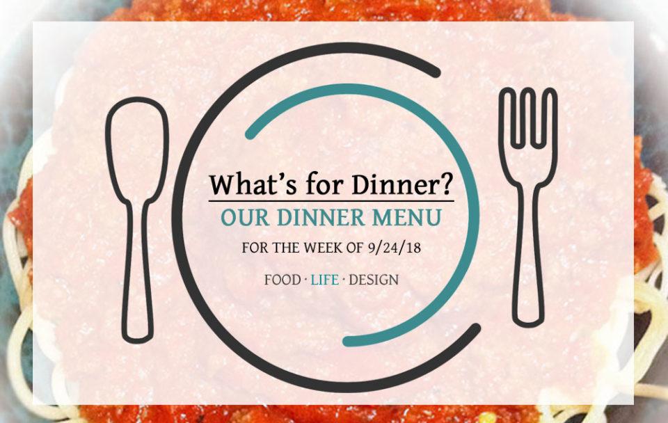 DINNER MENU 9-24-18