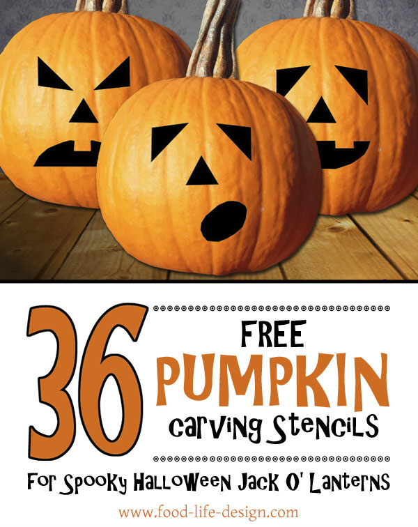 Free Pumpkin Carving Stencils - Food Life Design