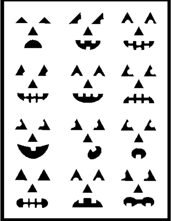 Pumpkin Carving Stencils - Set 3 - EXAMPLE