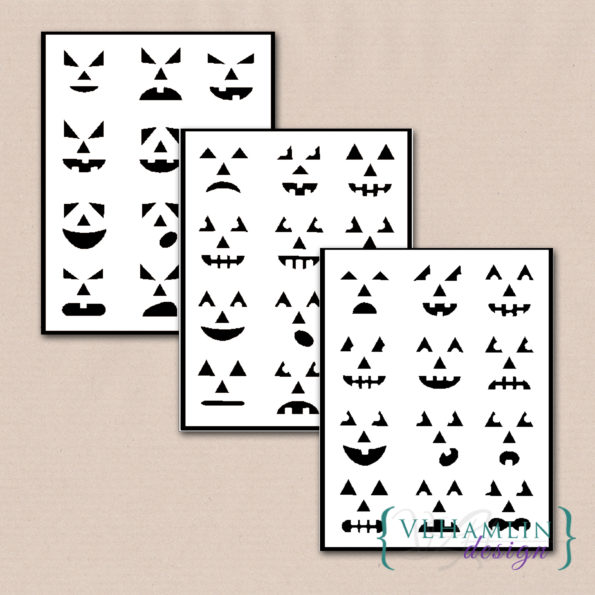 Pumpkin Carving Stencils - Set of 36