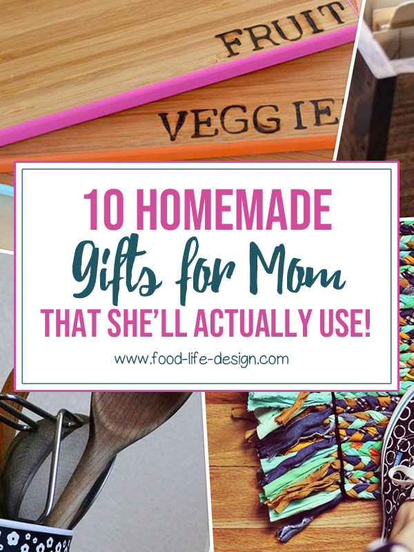 10 DIY Gifts for Mom That She'll Actually Use - Food Life Design