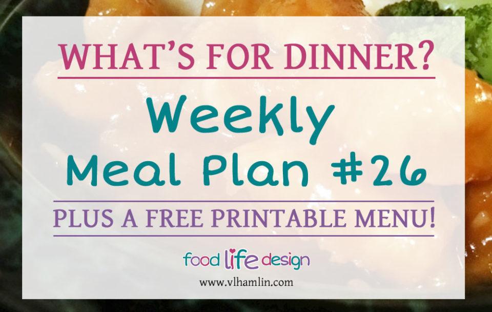 Free Printable Meal Planner 26