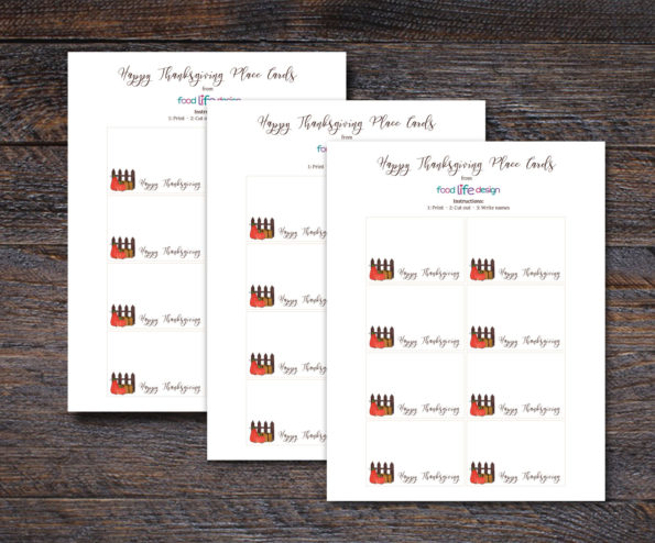 Click Here to Download these Free Printable Thanksgiving Place Cards | Food Life Design
