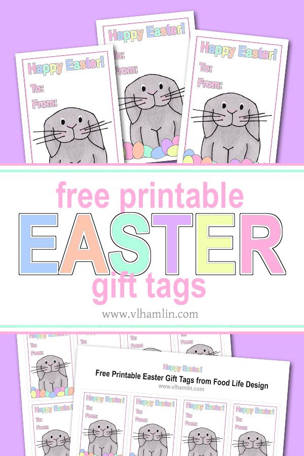 Free Printable Easter Gift Tags | Food Life Design