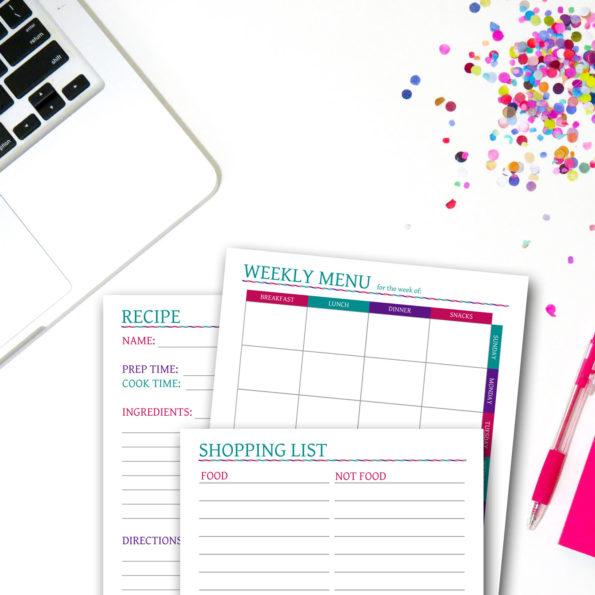 Weekly Menu Planner Set