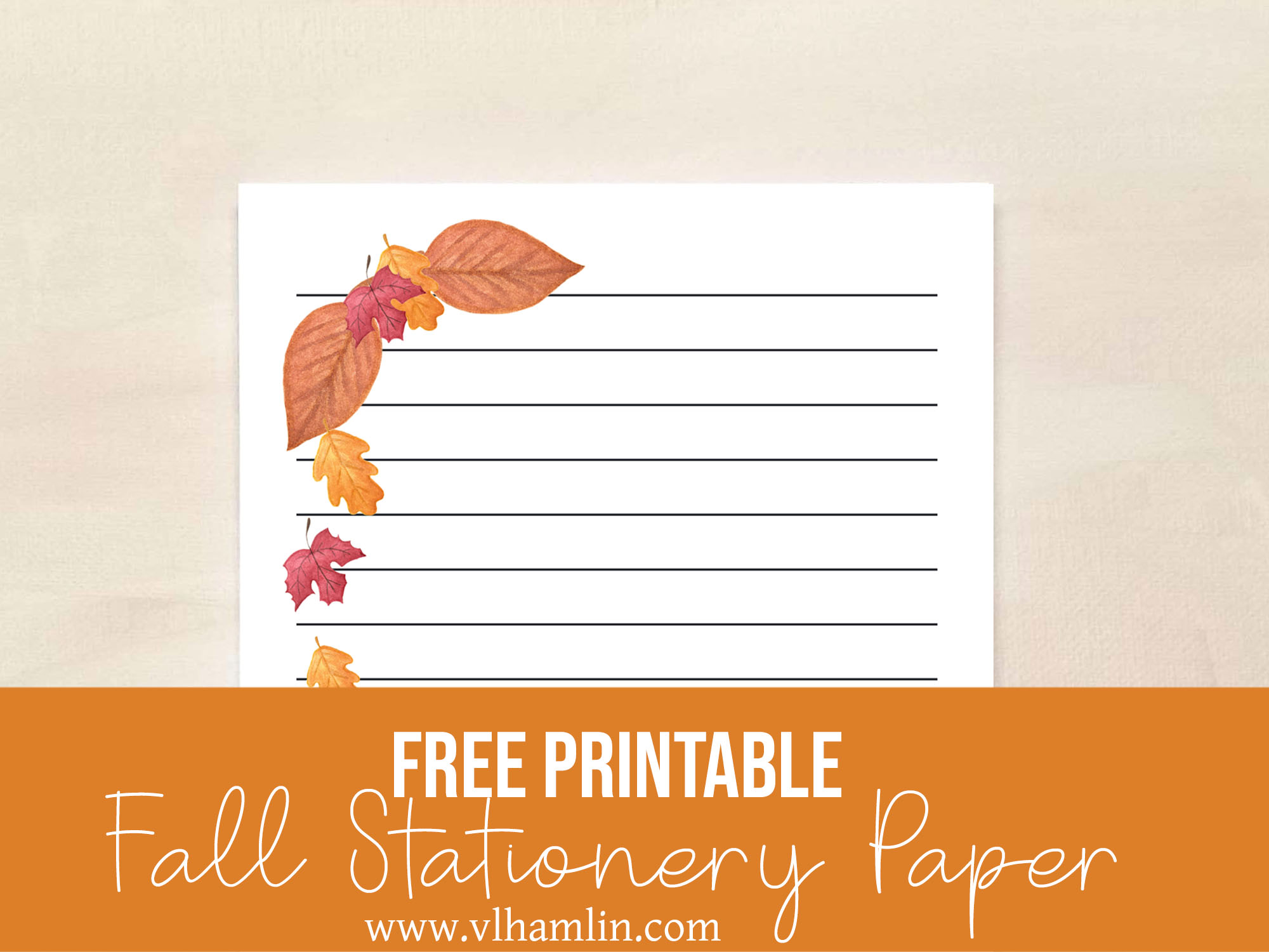 Free Printable Fall Stationery Food Life Design