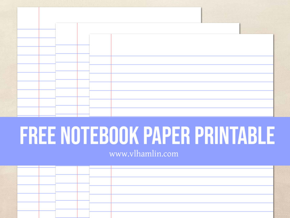 Free Notebook Paper Printable | Food Life Design