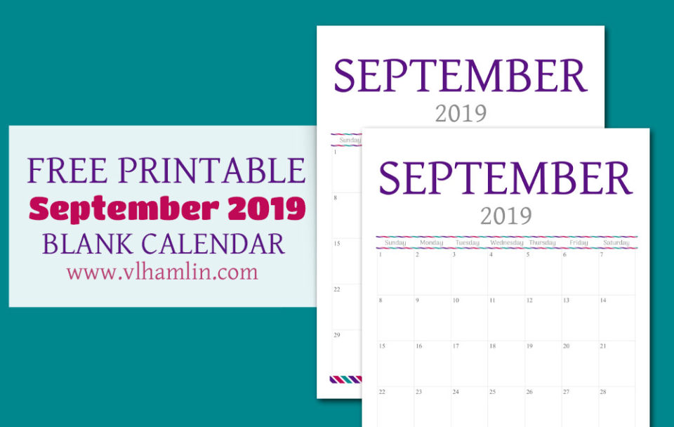 Free Printable September Calendar | Food Life Design