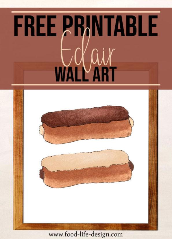 Free Printable Eclair Kitchen Print | Food Life Design