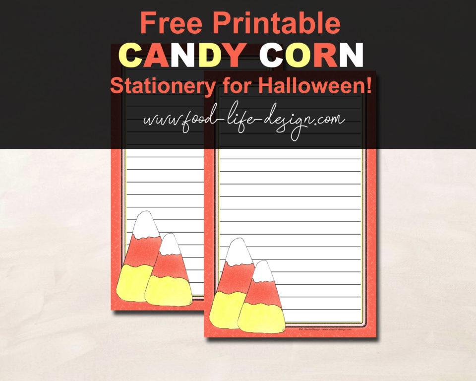 Free Printable Halloween Stationery - Food Life Design