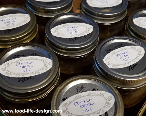 Homemade Chicken Stock for the Freezer 3 - Food Life Design