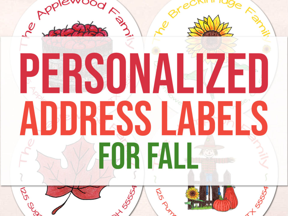 Personalized Address Labels for Fall - Featured - Food Life Design