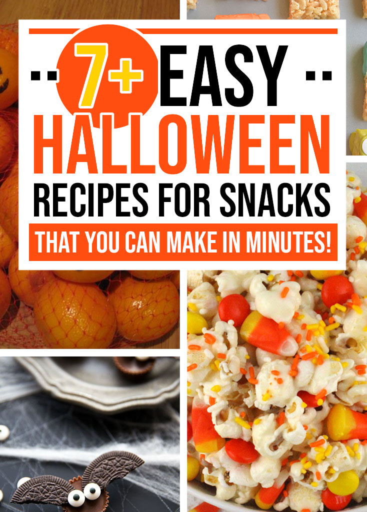 7+ EASY Halloween Recipes for Snacks - Food Life Design