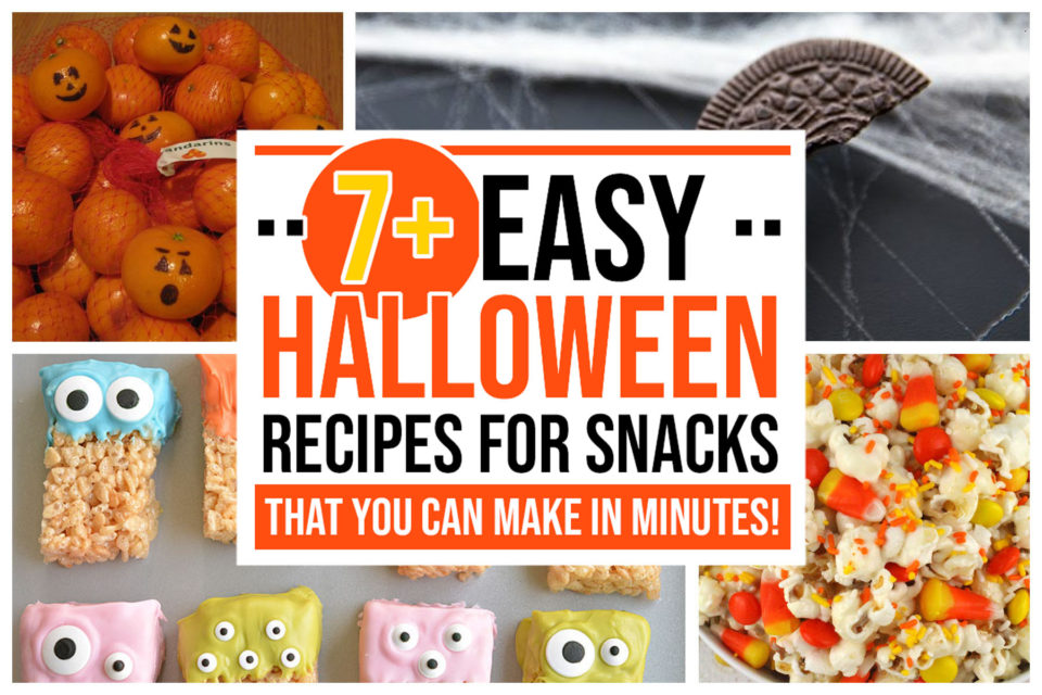 7 Halloween Recipes for Snacks You Can Make in Minutes - Food Life Design