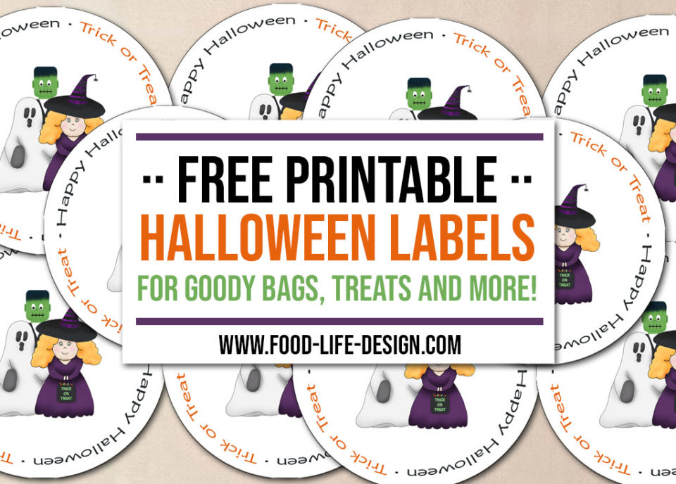 Free Printable Halloween Labels - Trick or Treat