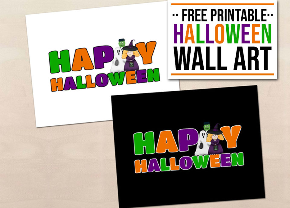 Free Printable Halloween Wall Art - FEATURED - Food Life Design