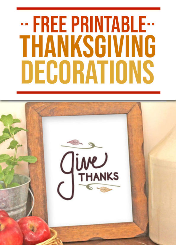 Free Printable Thanksgiving Decorations - Food Life Design